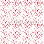 Love Swirls Seamless Vector Pattern Design