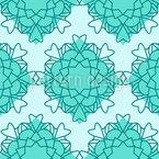 Abstract Heart Mandala Seamless Vector Pattern