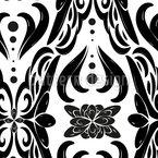 モノクロの装飾 シームレスなベクトルパターン設計
