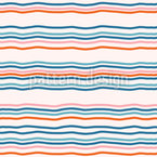 Sunset By The Sea Seamless Vector Pattern Design