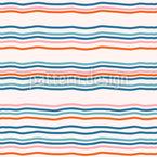 Pôr-do-sol pelo mar Design de padrão vetorial sem costura