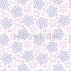 Flying Tufts Of Flowers Seamless Vector Pattern Design