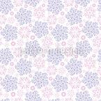 Touffes volantes de fleurs Motif Vectoriel Sans Couture