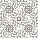 Blumenstrudel Nahtloses Vektormuster