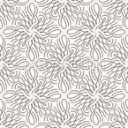 Flower Swirl Seamless Vector Pattern Design