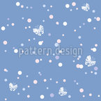 Butterflies And Dots Design Pattern
