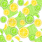 Limes And Lemons Seamless Vector Pattern Design