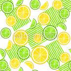 Limetten Und Zitronen Nahtloses Vektormuster