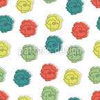 Roses With A Childish Touch Seamless Vector Pattern Design