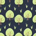 Apples In The Garden Of Eden Seamless Vector Pattern Design