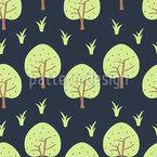 Pommes Dans Le Jardin D'Eden Motif Vectoriel Sans Couture