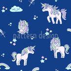 Cute Little Unicorn Seamless Vector Pattern Design