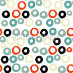 Doodle Rings Seamless Vector Pattern Design