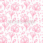Branch Flowers Seamless Vector Pattern Design