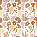 Organic Flower Dances Seamless Vector Pattern Design