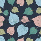 Soft Leaves Seamless Vector Pattern Design