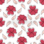 Imaginary Flowers Seamless Vector Pattern Design