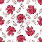 Flores imaginarias Estampado Vectorial Sin Costura