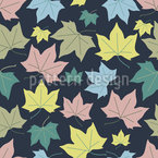 Soft Maple Leaves Seamless Vector Pattern Design
