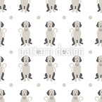 Winking Dogs Seamless Vector Pattern Design