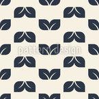 Einfaches Und Charmantes Blatt Muster Design