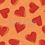 Heart Seamless Vector Pattern Design