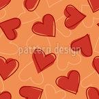Herz Nahtloses Vektormuster