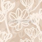 Magnolienlinien Nahtloses Vektormuster