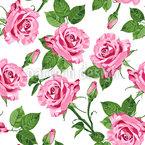Rosen Des Frühlings Nahtloses Vektormuster