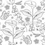 Variation de nature Motif Vectoriel Sans Couture