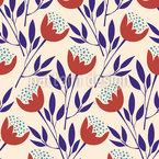 März-Tulpen Nahtloses Vektormuster