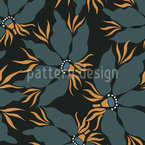 African Flower Dance Seamless Vector Pattern Design
