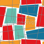 Deformed Check Seamless Vector Pattern Design
