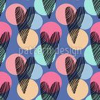 Heart Confetti Seamless Vector Pattern Design