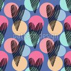 Confete de coração Design de padrão vetorial sem costura