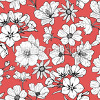 Red White Red Seamless Vector Pattern Design