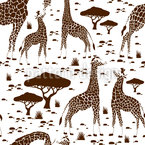 Giraffe Love Seamless Vector Pattern Design