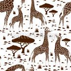 Giraffenliebe Nahtloses Vektormuster