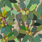Fairy Forest Seamless Vector Pattern Design