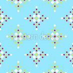 Rhombuses On Fair Isle Seamless Vector Pattern Design