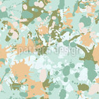 Paint Splash Camouflage Seamless Vector Pattern Design