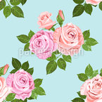 Roses Of Summer Seamless Vector Pattern Design