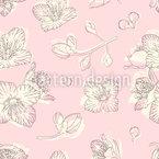 Jasminblüte Nahtloses Vektormuster
