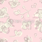 Jasmine Blossom Seamless Vector Pattern Design