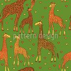 Giraffen Familie Nahtloses Vektormuster