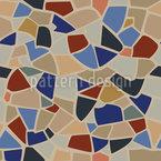 Terrazo Mediterráneo Estampado Vectorial Sin Costura