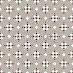 Rhombic Shapes On Fair Isle Seamless Vector Pattern Design
