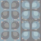 ストライプ上のスパロウカルテット シームレスなベクトルパターン設計