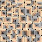 Células arredon Design de padrão vetorial sem costura