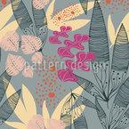 Plantas Estilizadas Tropicales Estampado Vectorial Sin Costura